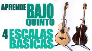 APRENDE BAJOQUINTO 4 ESCALAS BASICAS (TUTORIAL)