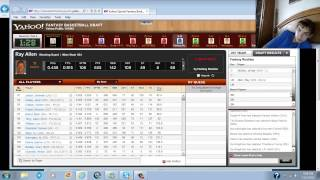 NBA Fantasy Basketball 2012-2013 Yahoo Sports Draft