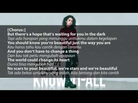 Alessia Cara - Scars To Your Beautiful Lyric and Terjemahan