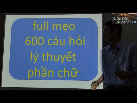Mẹo lý thuyết 600 câu ( phần chữ ) - Thầy Tâm