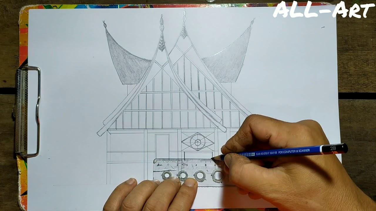 Cara Menggambar Adat Melayu Riau How To Draw A Traditional House