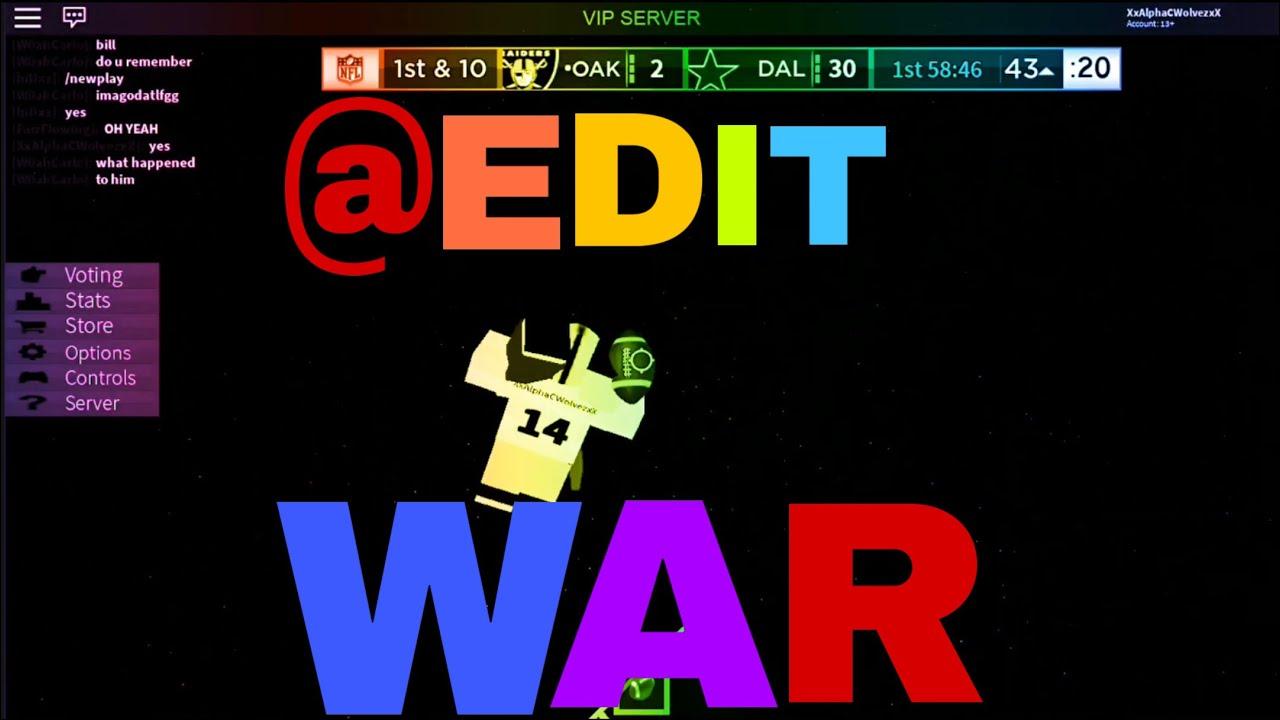 @Edit War?