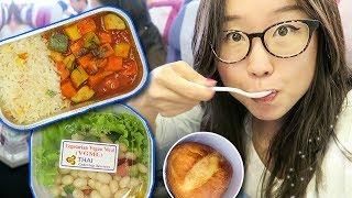 Video Vegetarian Airplane Food on Thai Airways ► from Bangkok to Bali download MP3, 3GP, MP4, WEBM, AVI, FLV Juli 2018