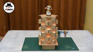 Cara Membuat Lampu Meja dari Kardus Bekas (gampang dibuat dan bagus banget)