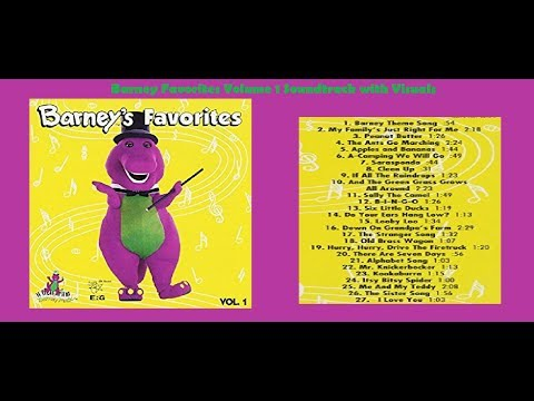 Barney Favorites Vol 1 Soundtrack with Visuals