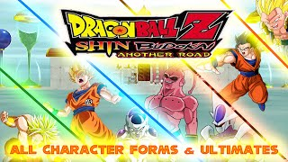 Dragon Ball Z Shin Budokai Another Road - ALL CHARACTER FORMS AND ULTIMATES!