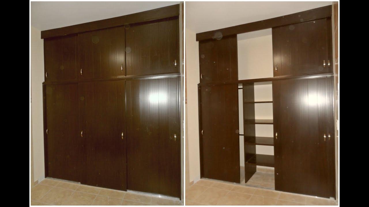 Closet reforzado de pvc con entrepa os al centro youtube for Armar closet de madera