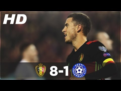 Belgium vs Estonia 8-1 ►All Goals & Extended Highlights - WC Qualifiers 2016 ● (13/11/2016) HD.