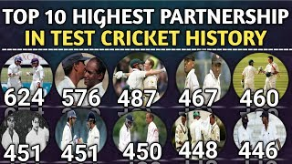 Top 10 Highest Partnership In Test Cricket History | Highest All Wickets Partnership In Test