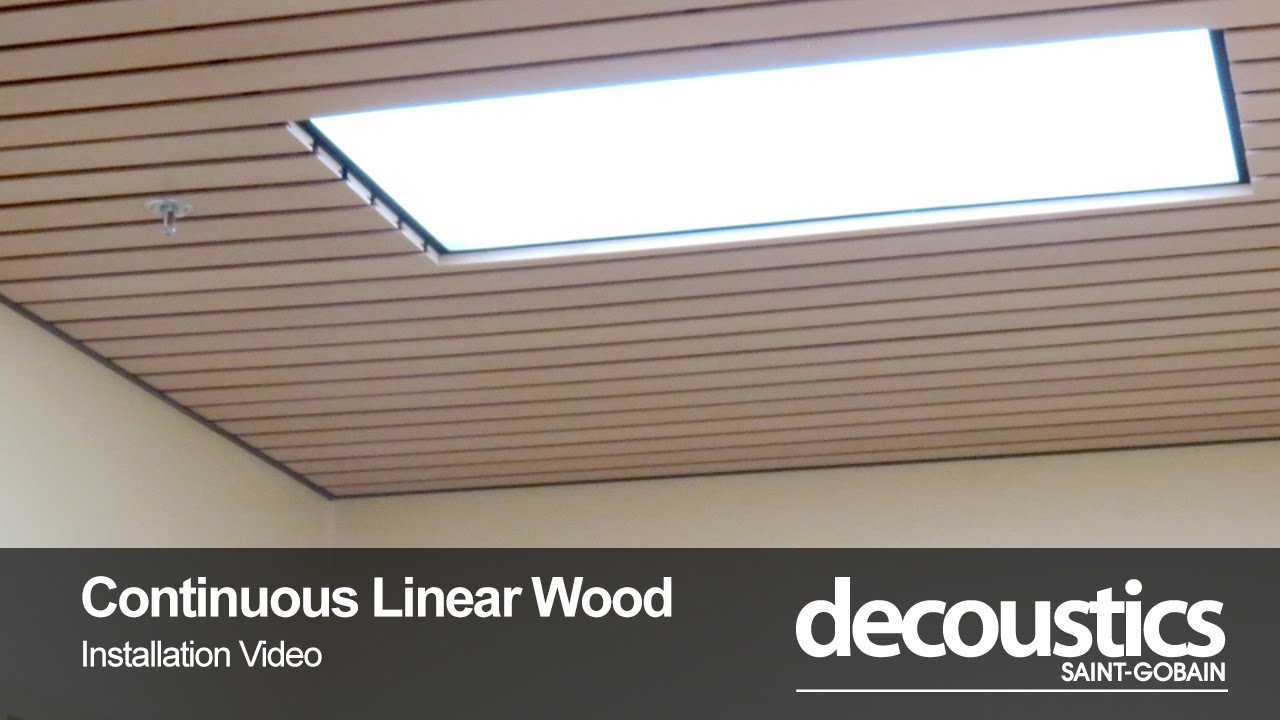 Decoustics Continuous Linear Wood Ceiling Installation