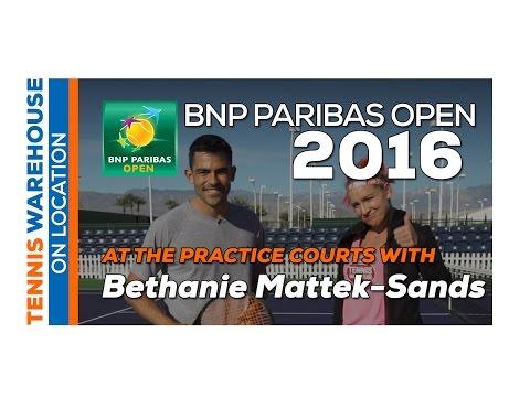 At Practice with Bethanie Mattek-Sands (2016 BNP Paribas Open)