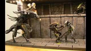 Alien vs Predator Custom Diorama by meiler CUSTOM Toys episode 1