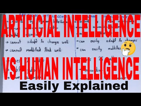 Artificial vs Human Intelligence|Difference between artificial intelligence and human intelligence