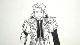 Cara Menggambar Alucard Hero Mobile Legends How To Draw Alucard Hero
