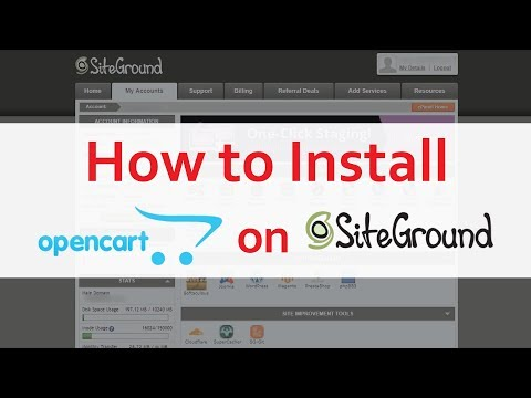 Screenshots] How to Install OpenCart on SiteGround Tutorial