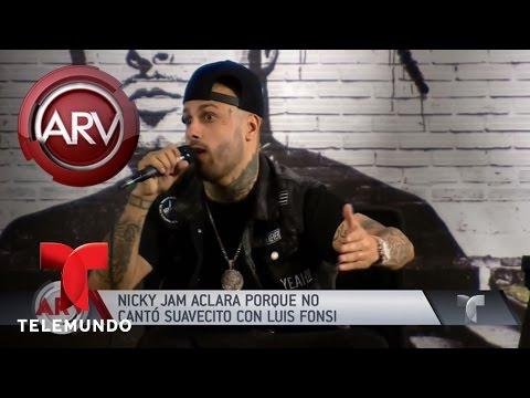 Nicky Jam confesó por qué no cantó 'Despacito' | Al Rojo Vivo | Telemundo