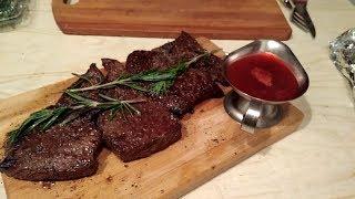Как приготовить стейк денвер из мраморной говядины,у себя дома на обычной сковородке.Секреты повара