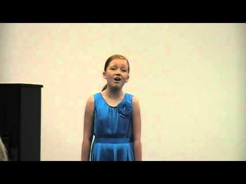 Gabrielle singing We Rise Again, age 10