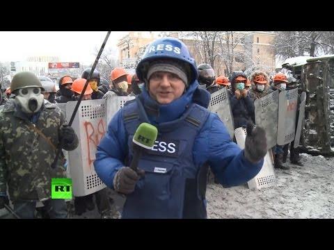 Демонстранты в Киеве