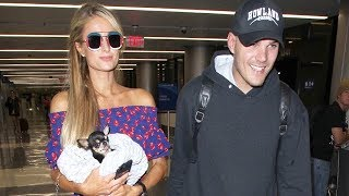 EXCLUSIVE - Paris Hilton And Chris Zylka Head To NYC For Pet Charity Animal Haven