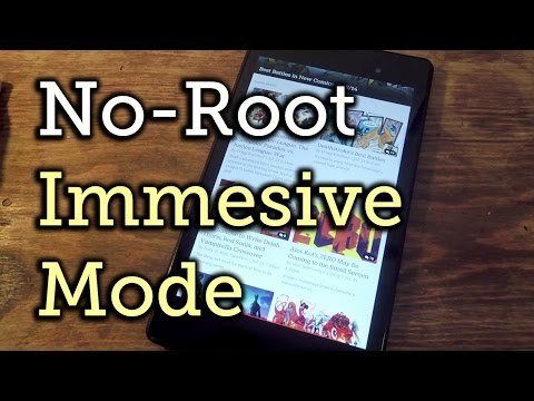 Enable Full-Screen Immersive Mode on Android (No Root