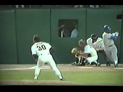 The Amazing Benito Santiago Throwing Out Runners From His Knees!