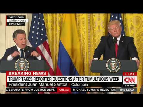 "Trump, after 'long and very diplomatic answer' by Colombian president, says ""walls work"""