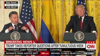 Trump, after 'long and very diplomatic answer' by Colombian president, says