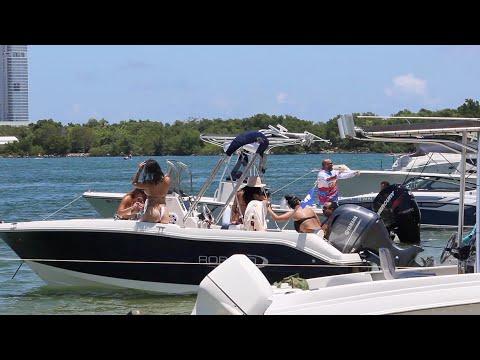 Miami Beach Island And Boat Water Fun