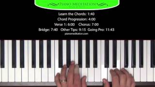 Trading My Sorrows - How to Play on the Piano