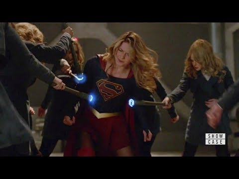 Supergirl 4x20 Supergir, Lena, Dreamer and James vs Eve and Ben Lockwood Fight Scene