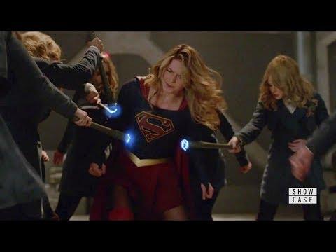 Supergirl 4x20 Supergir, Lena, Dreamer and James vs Eve and Ben Lockwood Fight Scene