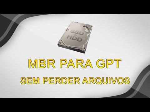 Como CONVERTER HD ou SDD de MBR para GPT sem PERDER ARQUIVOS