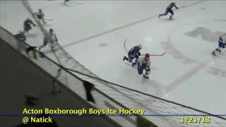 Acton Boxborough Varsity Boys Hockey @ Natick 1/21/13