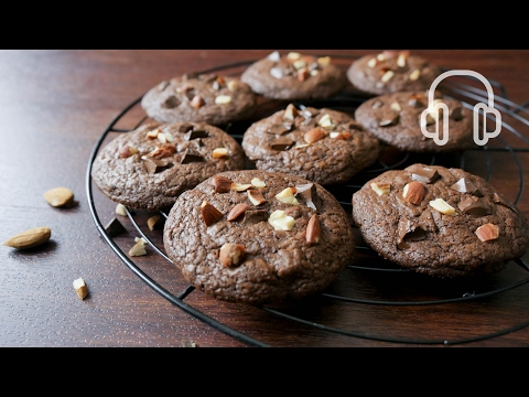 Double Chocolate Chunk Cookies Recipe | ASMR Cooking sounds