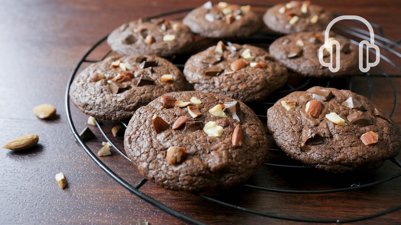 ダブルチョコレートクッキーの作り方