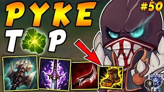 Pyke TOP with Aftershock and Full LETHALITY = Roaming One Shot Machine | Iron IV to Diamond Ep #50