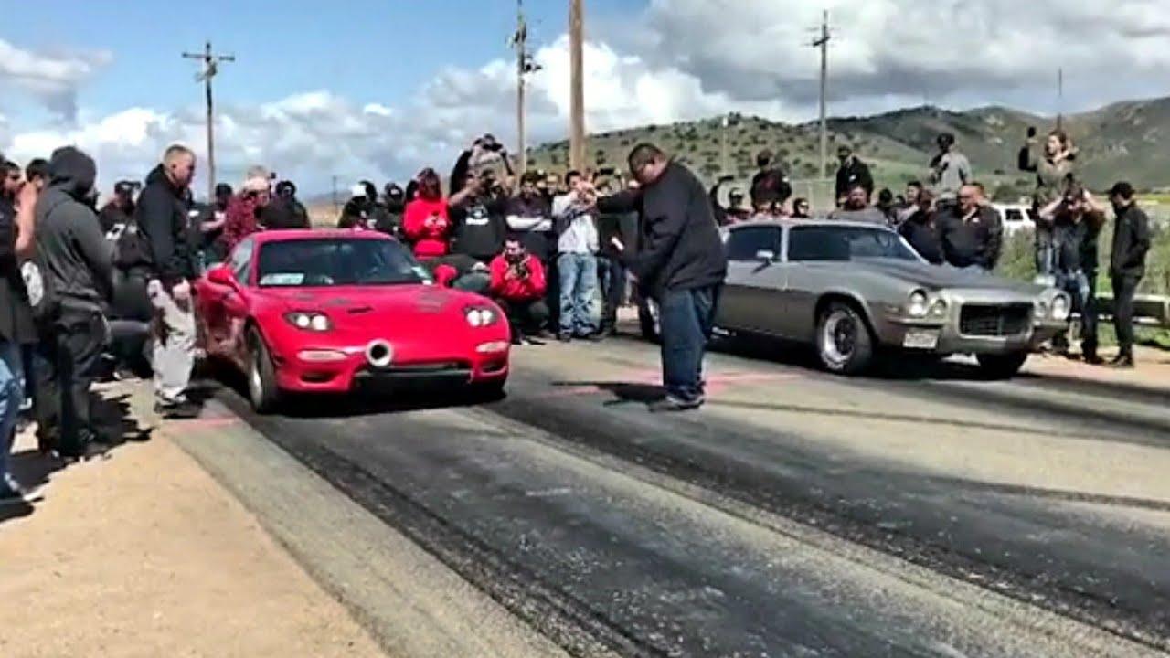 NorCal Turbo LS RX7 vs Camaro SS | Street Racing 1320