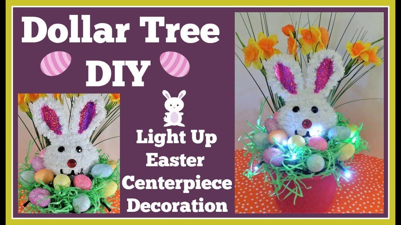 Easter Decoration Lights Up Dollar Tree Diy Easy Youtube