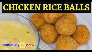 Golden Chicken Rice Balls with Crab and Corn Soup