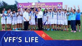 Hà Nội đăng quang giải bóng đá Nữ vô địch U19 Quốc gia 2018   VFF Channel