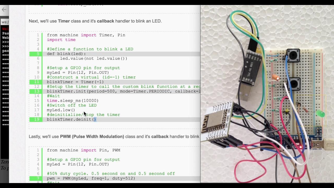 Blinking an LED - Timer - ESP8266 - MicroPython