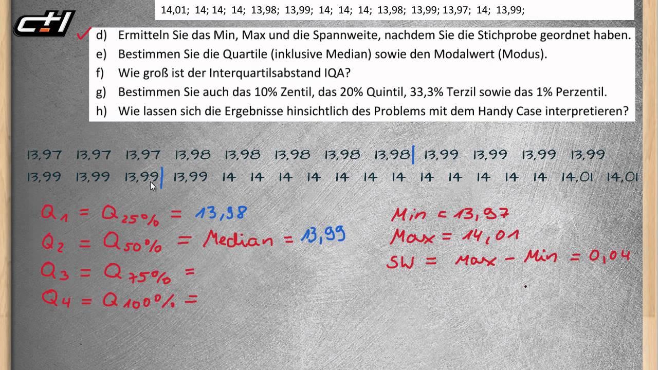 Lageparameter || Beschreibende Statistik ☆ Mittelwert, Quartile ...