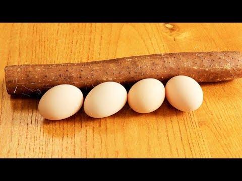 山藥這樣做比燉湯還營養,加上4個雞蛋攪一攪,端上桌孩子最愛吃【夏媽廚房】