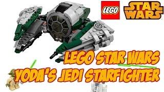 Lego Star Wars 75168 Yoda's Jedi Starfighter Review  Лего Звездные войны Звездный истребитель Йоды.