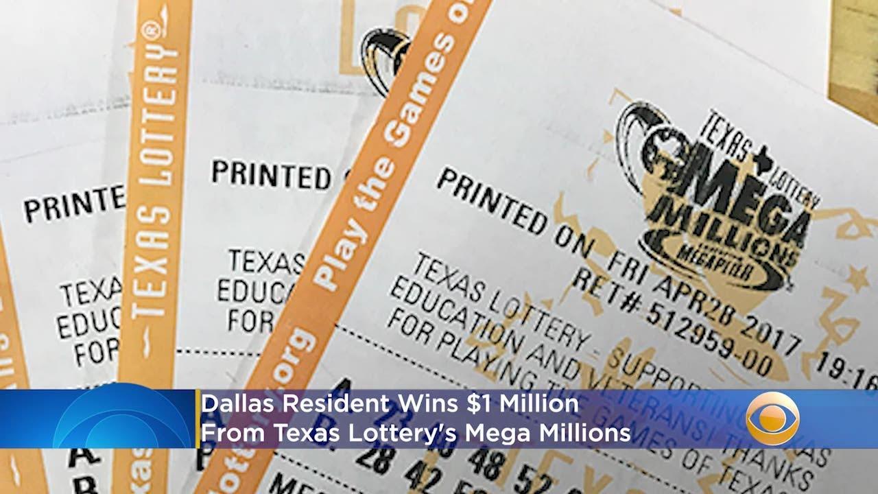 Dallas Resident Wins 1 Million From Texas Lottery S Mega Millions Youtube