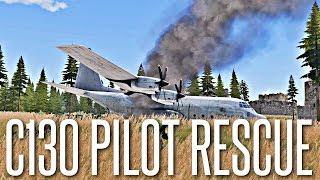 C130 PILOT RESCUE OPERATION - ArmA 3 Milsim