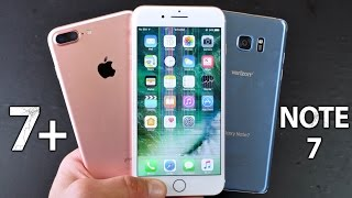 iPhone 7 Plus vs Samsung Galaxy Note 7 DROP Test!