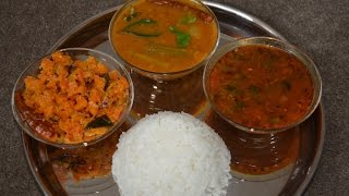 Simple lunch menu(4 items) within 1hr -  Step by Step from scratch (in Tamil)