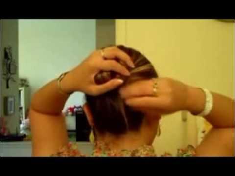 Video  5 phút tạo búi tóc lạ mắt   Video 5 phut tao bui toc la mat   eva vn